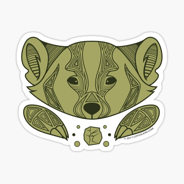 Of the Wood: Badger Sticker