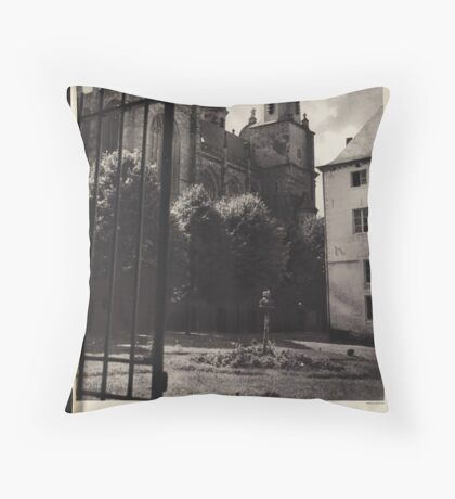 Belgium Vintage Travel Advertisement Art Poster Throw Pillow