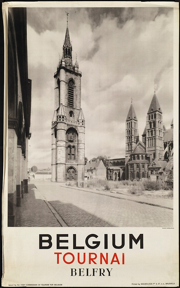 Belgium Vintage Travel Advertisement Art Poster by jnniepce