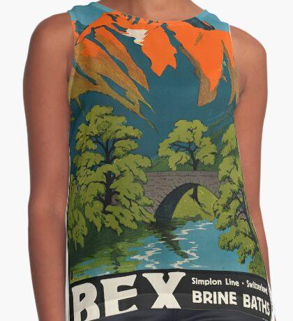 Bex Vintage Travel Advertisement Art Poster Sleeveless Top