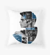 Dylan O'Brien Squares Throw Pillow