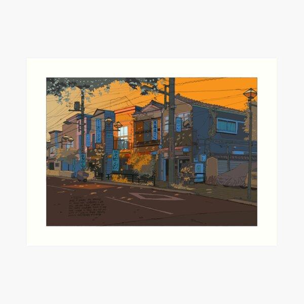 Yanesen Orange Art Print