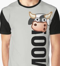 MOO! (Text) Graphic T-Shirt