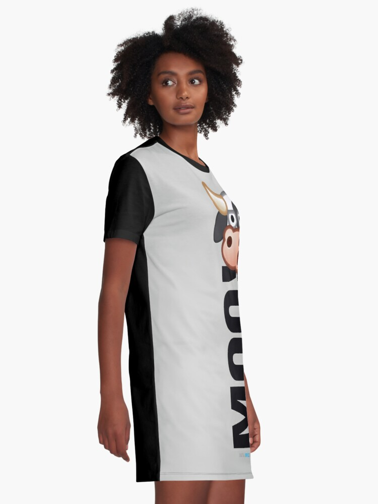 Alternate view of MOO! (Text) Graphic T-Shirt Dress
