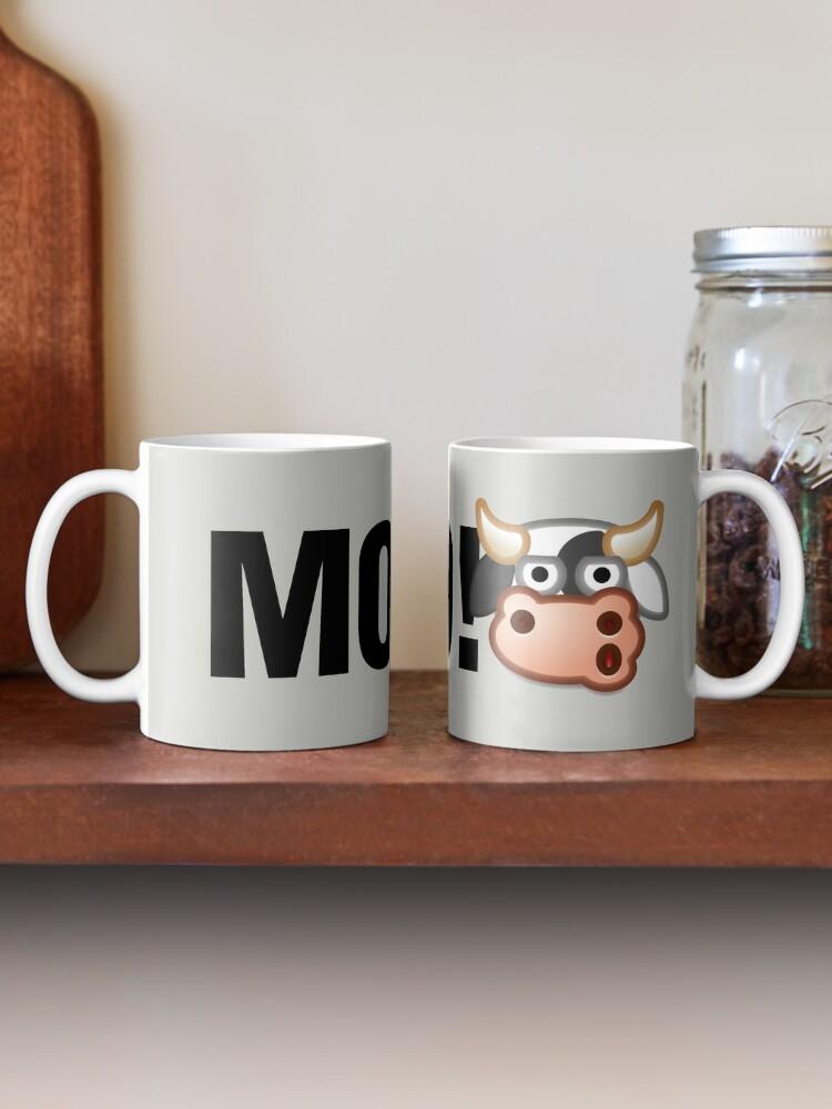 Alternate view of MOO! (Text) Mug