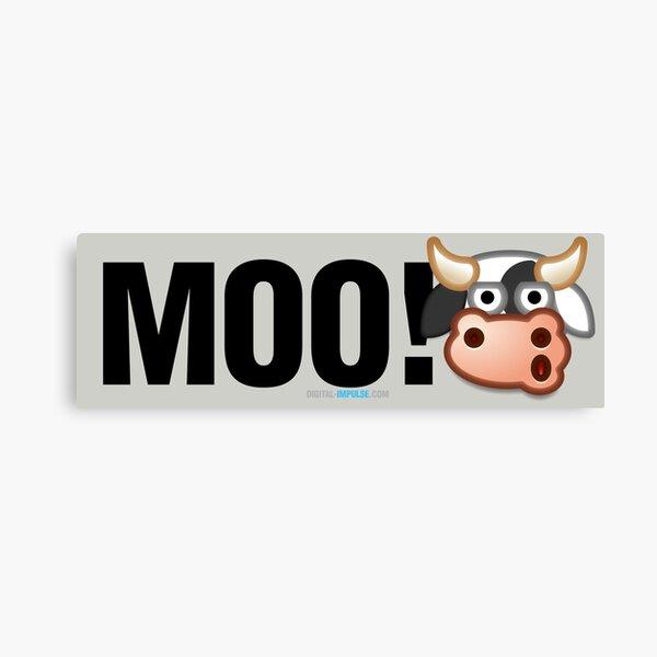 MOO! (Text) Canvas Print