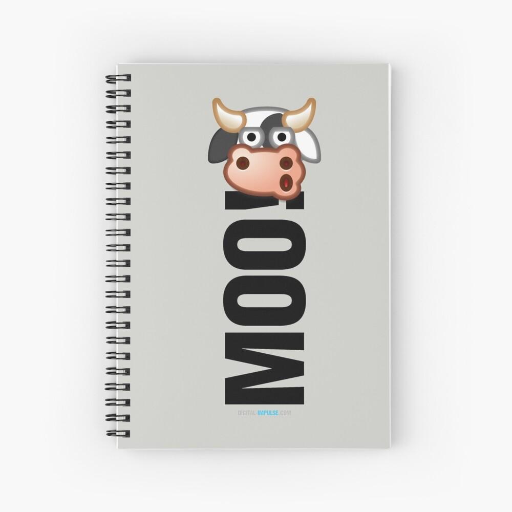MOO! (Text) Spiral Notebook