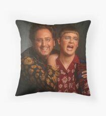tim and eric news Throw Pillow
