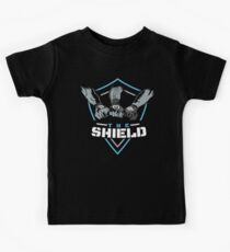 The Shield Blue-White [Available in 10 colors] Kids Tee