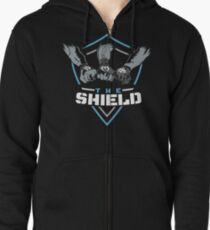 The Shield Blue-White [Available in 10 colors] Zipped Hoodie