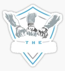 The Shield Blue-White [Available in 10 colors] Sticker