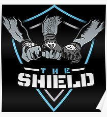 The Shield Blue-White [Available in 10 colors] Poster