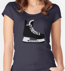 Hockey skate Women's Fitted Scoop T-Shirt