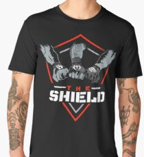 The Shield Red-White [Available in 10 colors] Men's Premium T-Shirt