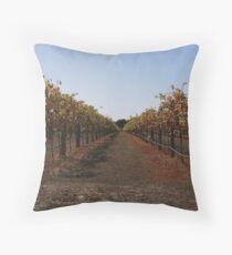 Vineyards in Autumn Throw Pillow