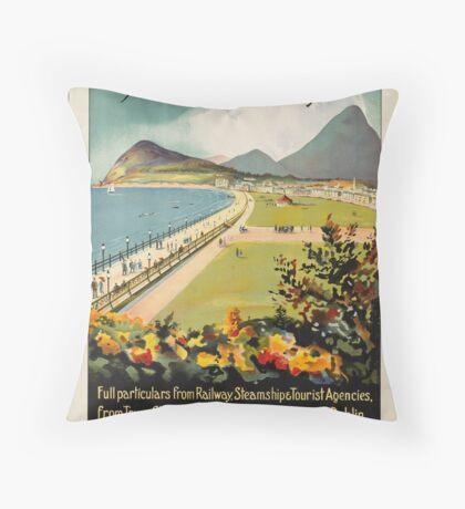 Ireland Vintage Travel Advertisement Art Poster Throw Pillow