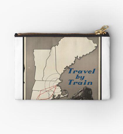 Boston Vintage Travel Advertisement Art Poster Zipper Pouch