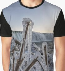 Faxi waterfall and frozen stuff in the foreground Graphic T-Shirt