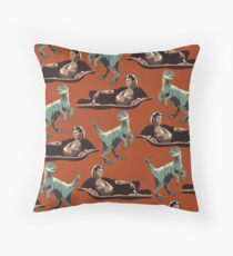 Jurassic Geniuses  Throw Pillow