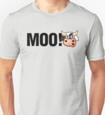 MOO! (Text) Unisex T-Shirt