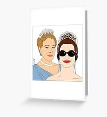 The Princess Diaries - Poster Illustration Greeting Card