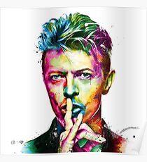 David Bowie idolo Poster