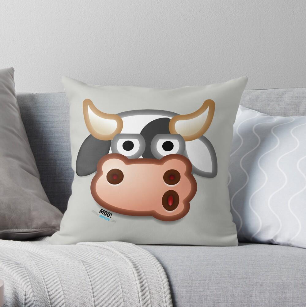 MOO! Throw Pillow