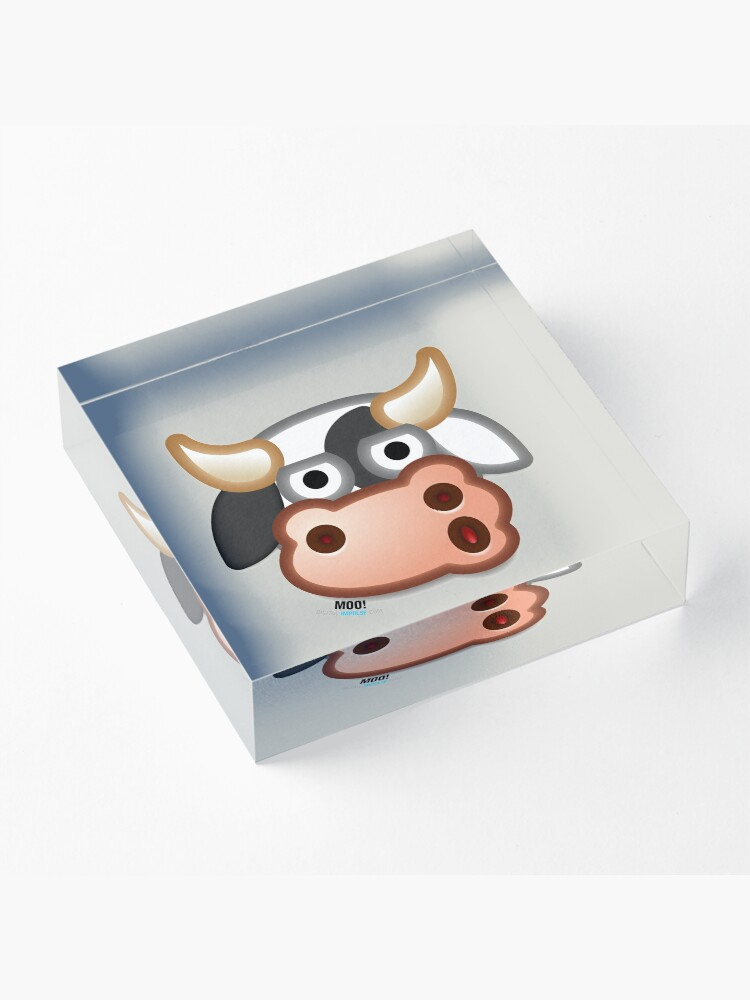 Alternate view of MOO! Acrylic Block