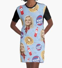 What's Important: Friends, Waffles, and Work  Graphic T-Shirt Dress