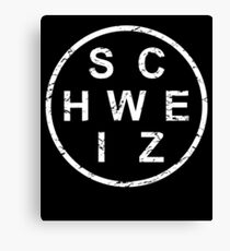 Stylish Schweiz Switzerland Canvas Print