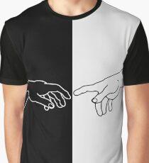 Hände, die die Schaffung von Adam zeigen Grafik T-Shirt