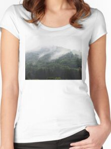 Misty Mountains Women's Fitted Scoop T-Shirt