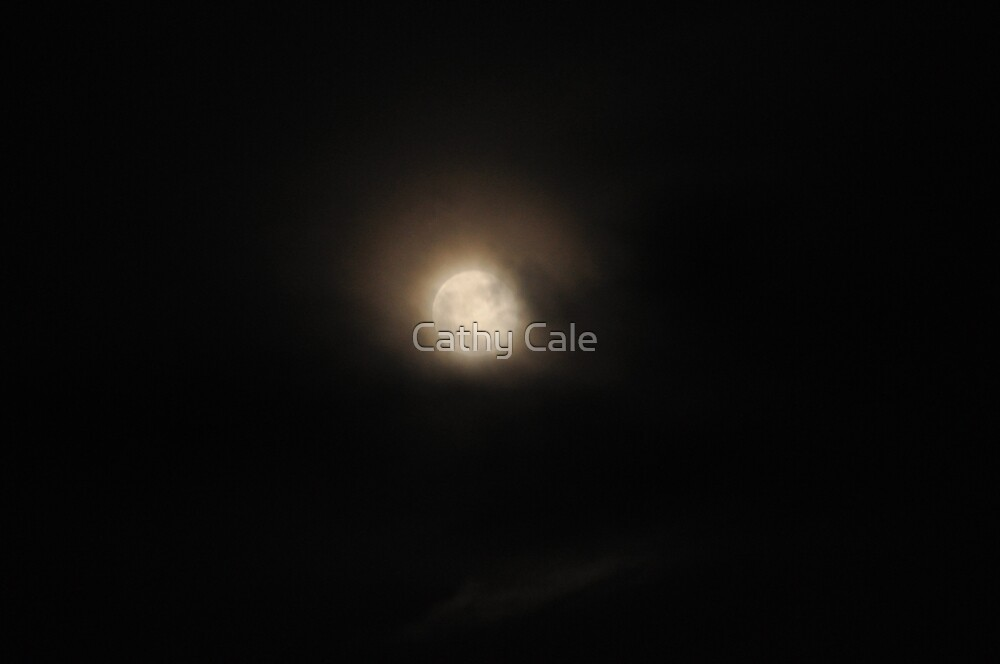 Clouds, Fog and The Moon by Cathy Cale