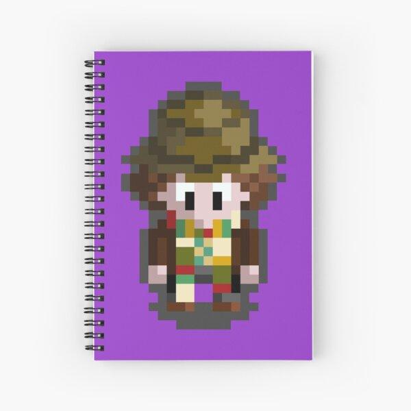 Fourth Doctor- Pixel Spiral Notebook