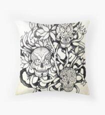 frangipani tree of sugar skulls  Throw Pillow