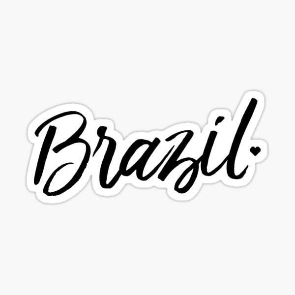 Brazil in Love Sticker