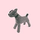 Little Abandoned Woof Puppy Dog in Pink by Shelly Still