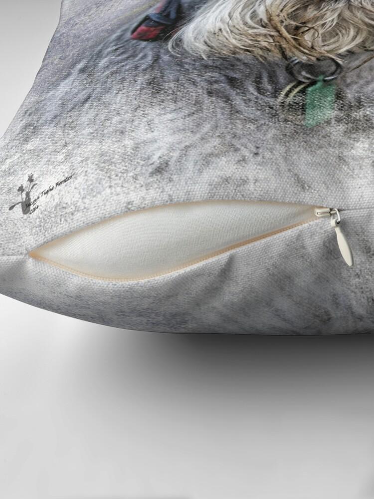Alternate view of Serious Schnauzer Throw Pillow