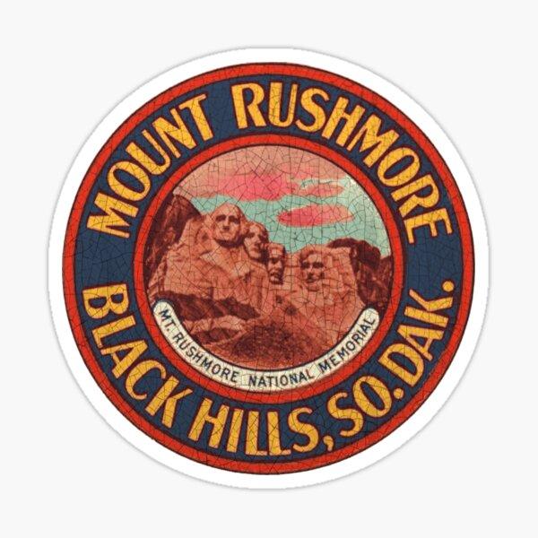 Mount Rushmore Vintage decal USA Sticker