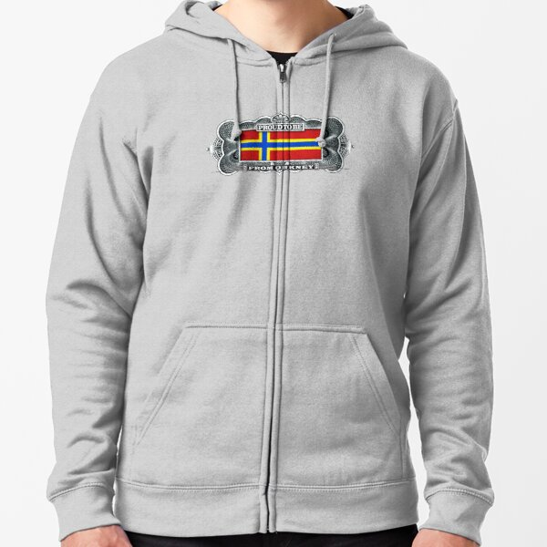 Proud To Be From Orkney Zipped Hoodie