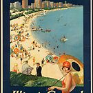 Chicago Ilinois Vintage Travel Advertisement Art Poster by jnniepce