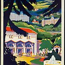 Vintage Travel Advertisement Art Poster by jnniepce