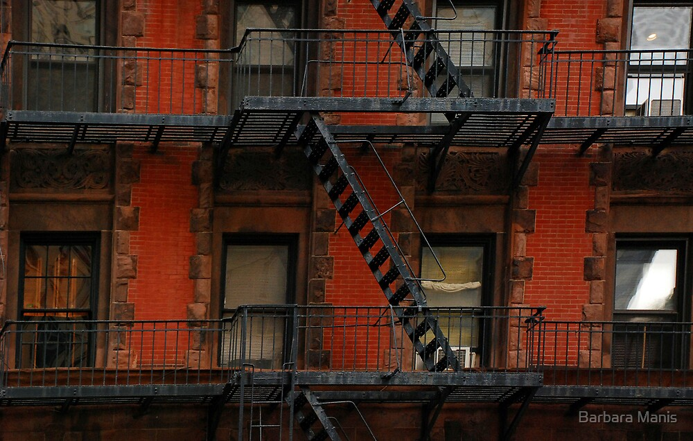 Zig-Zag Fire Escapes by Barbara Manis