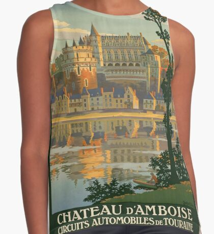 France Vintage Travel Advertisement Art Poster Sleeveless Top