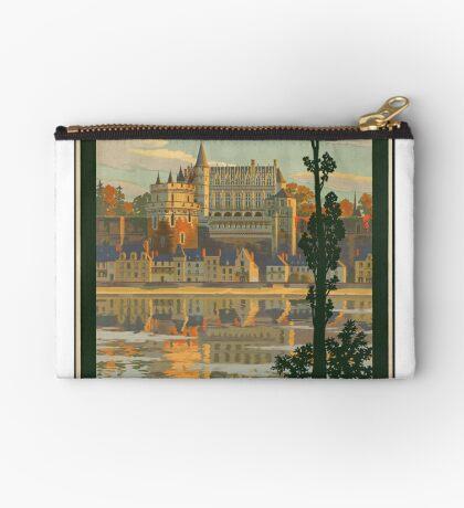 France Vintage Travel Advertisement Art Poster Zipper Pouch