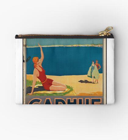 Carhue Vintage Travel Advertisement Art Poster Zipper Pouch