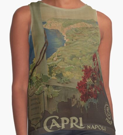 Capri Napoli Vintage Travel Advertisement Art Poster Sleeveless Top