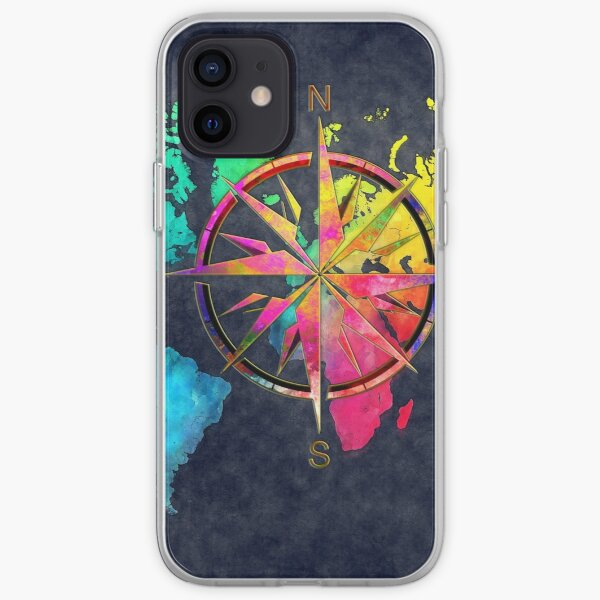 world map wind rose 9 #worldmap #map iPhone Soft Case