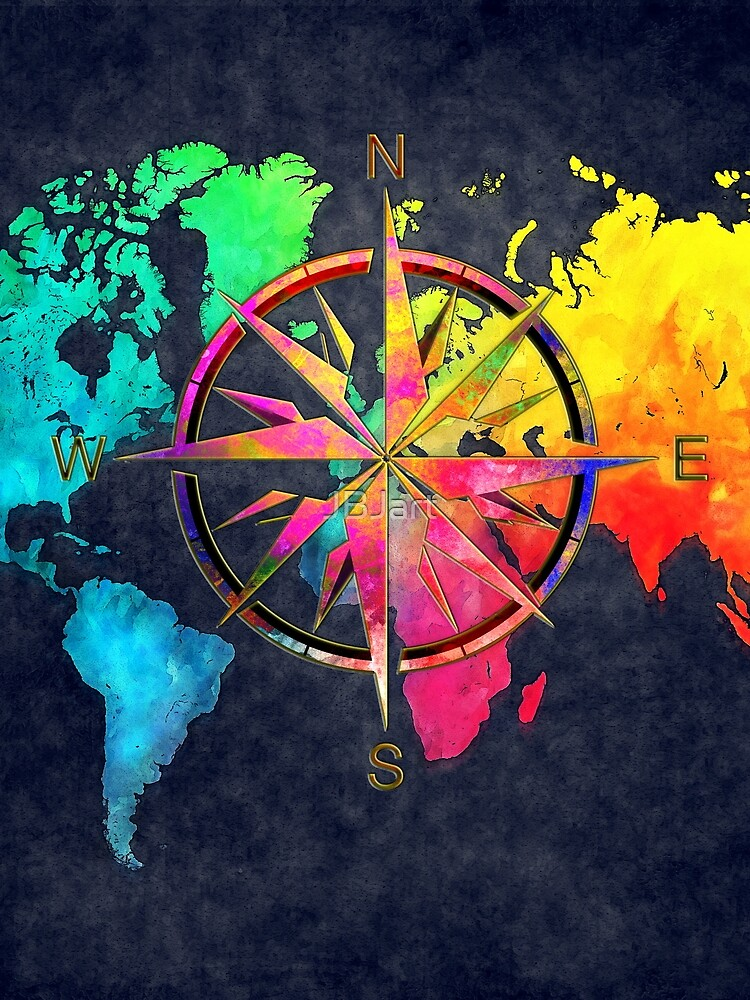 world map wind rose 9 #worldmap #map by JBJart