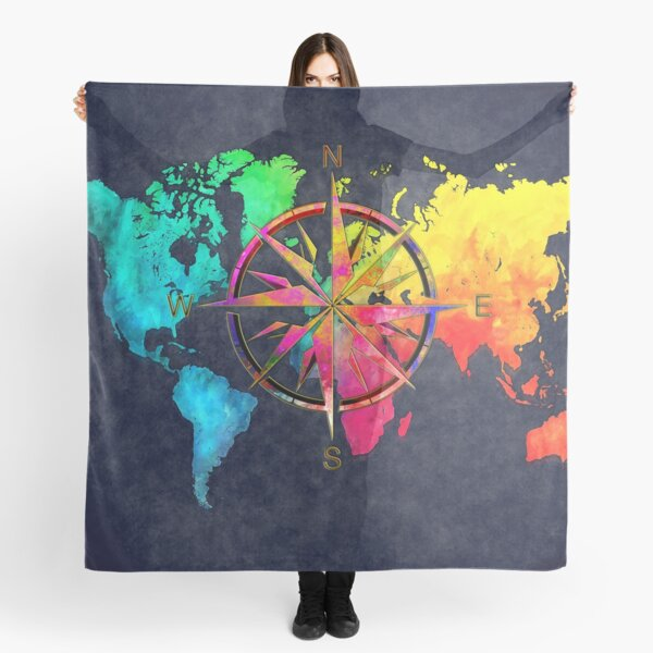 world map wind rose 9 #worldmap #map Scarf